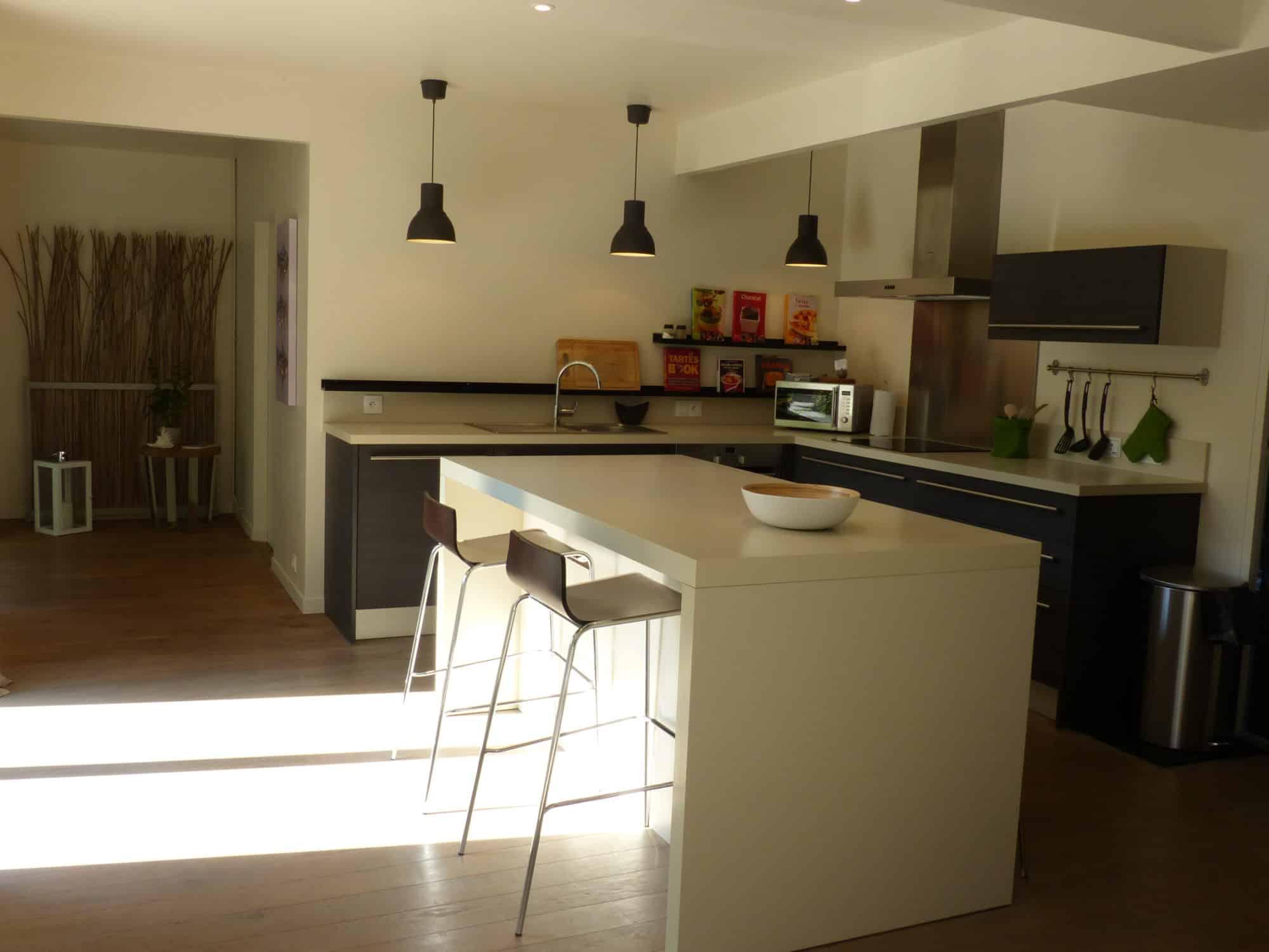 grande cuisine ouverte cuisine ouverte sur salon unique